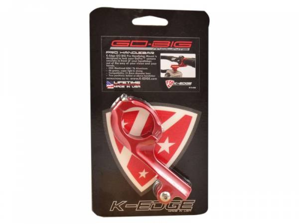 Image of   K-edge Go Big Pro Styr Mount til GoPro HERO - 31.8 - Rød