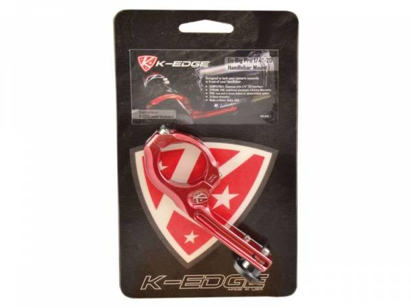 Image of   K-edge Go Big Styr Mount til GoPro HERO - 1/4 20 tommer - Rød