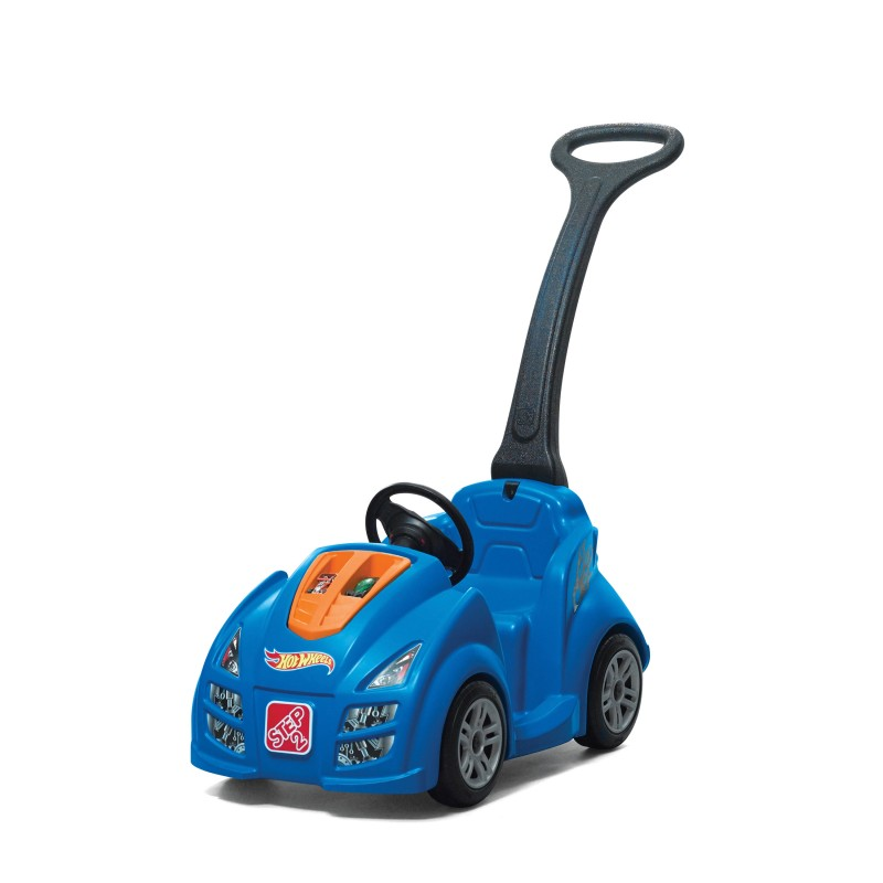 Image of   Step 2 Hot Wheels Push Around Racer Ride On - Blue / Black