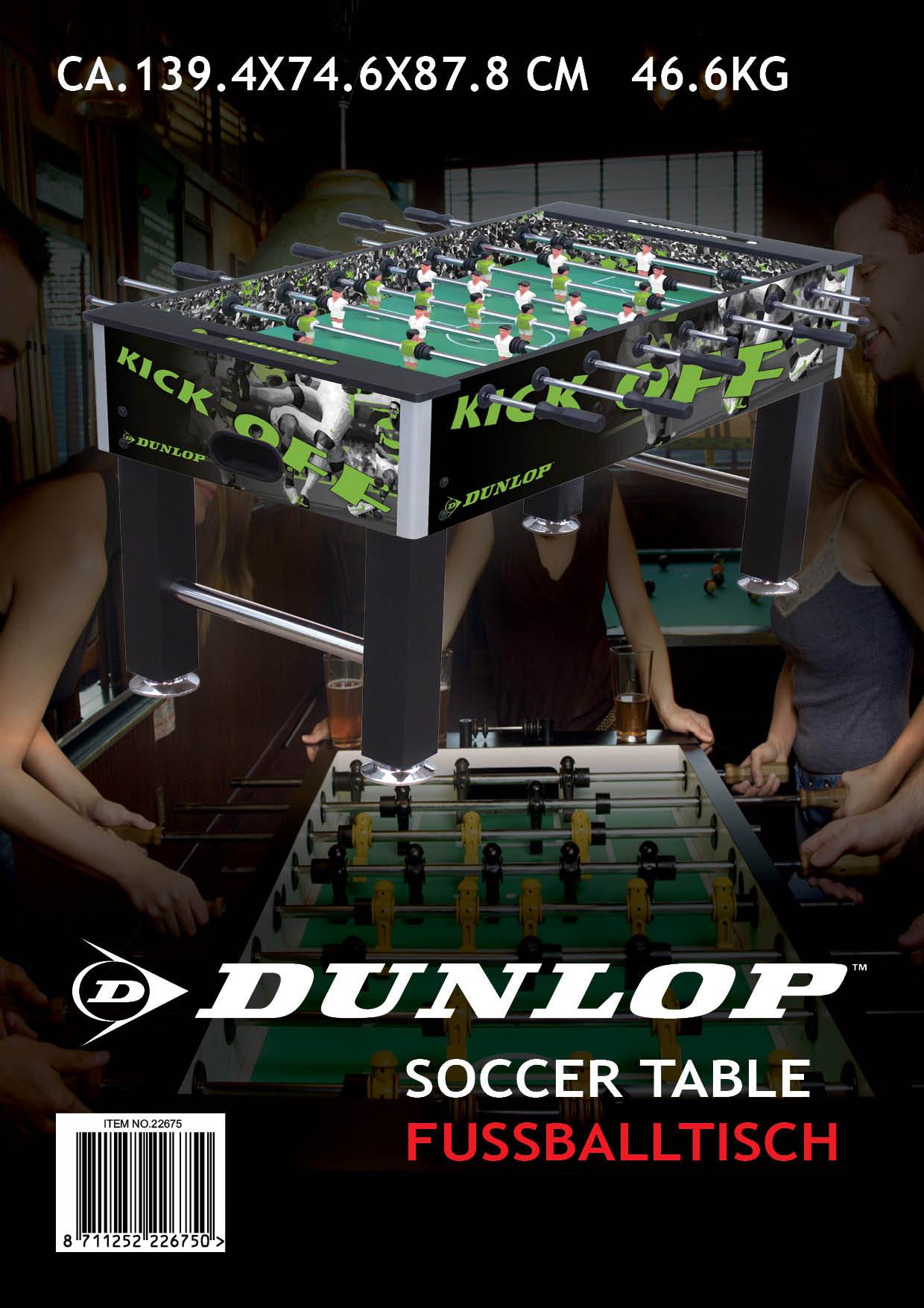 Image of   Dunlop Soccer Table Kick Off - Black & Green