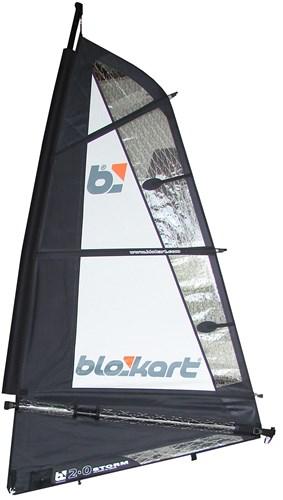 Image of   Blokart Sail Komplet 2.0m - Sort / Hvid