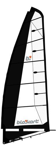 Image of   Blokart Sail Komplet 5,5 - Sort