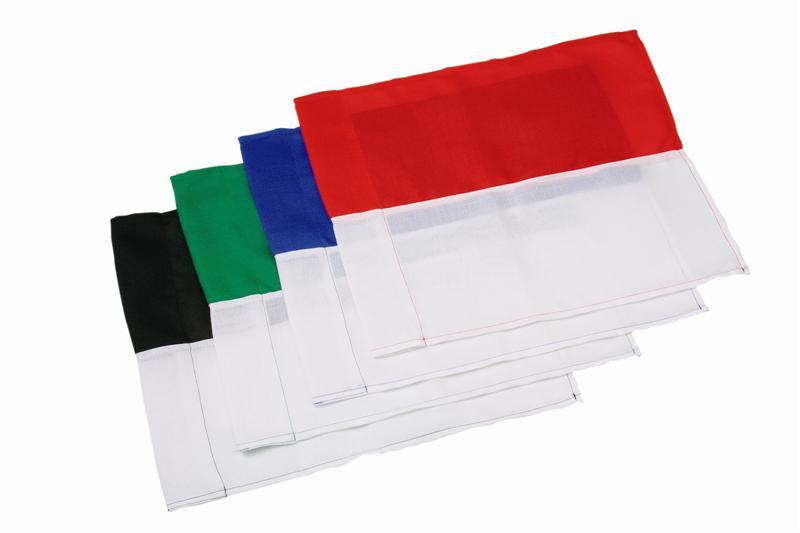 Image of   Borderflag 2 farver - Sort / Hvid