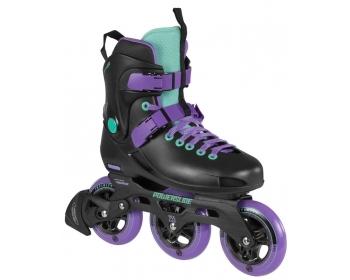 Image of   Powerslide Powfree Metropolis Supercruiser 110 Freeskating Skates - Black / Purple
