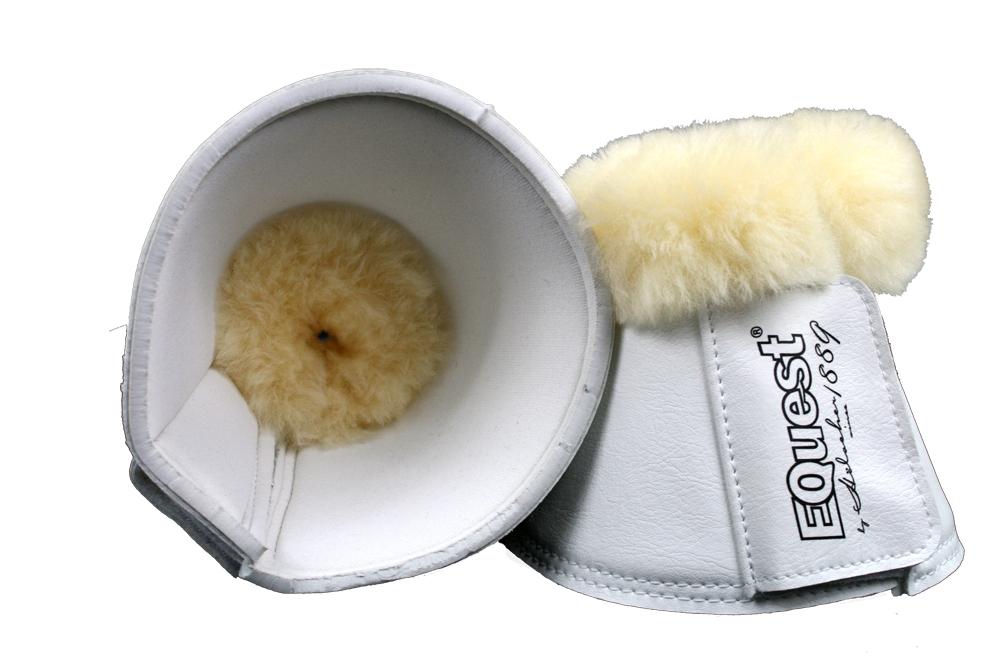 Image of   Equest Bell Boots Læder med fåreskind - Hvid