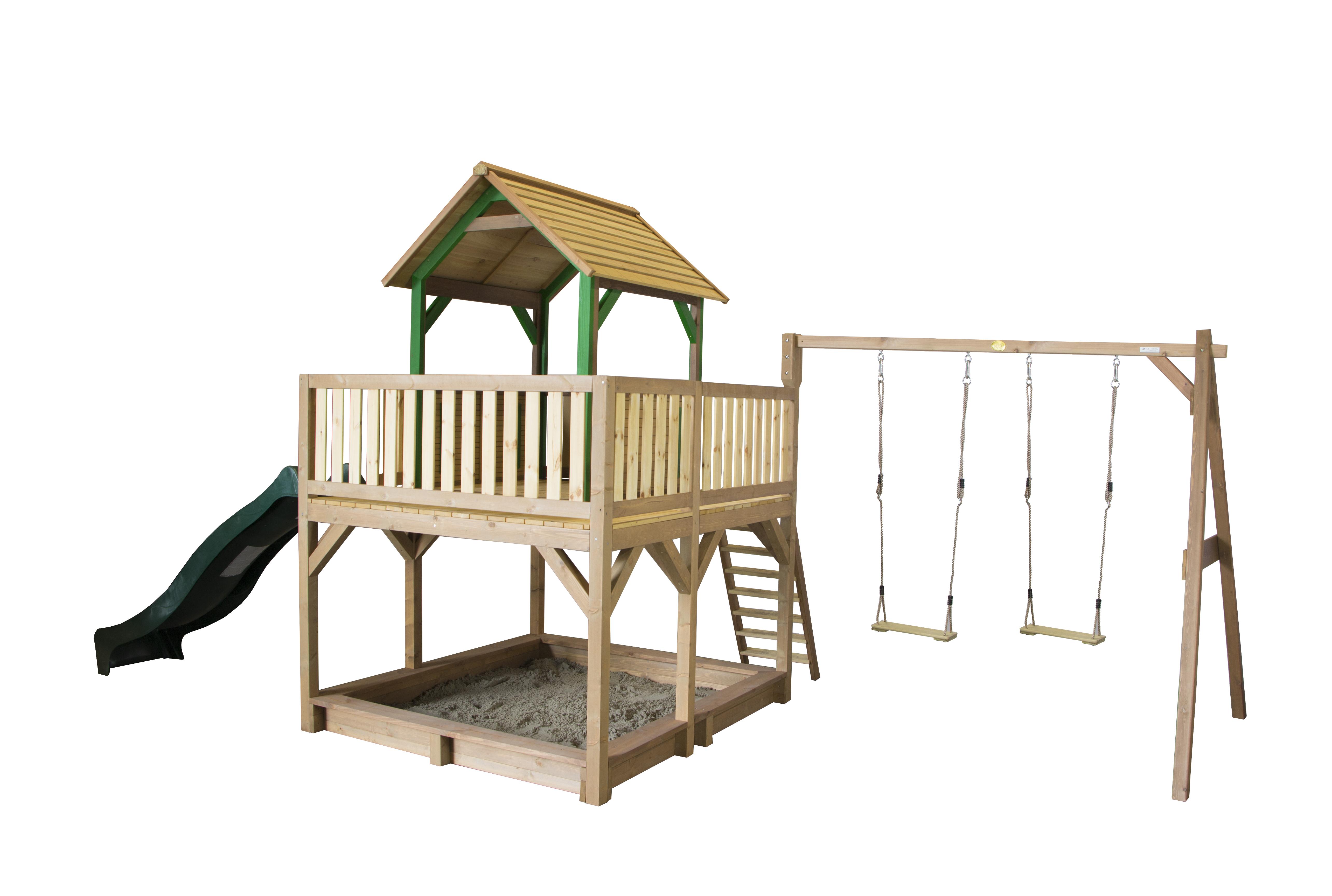 Image of   AXI Atka Playhouse og Double Swing