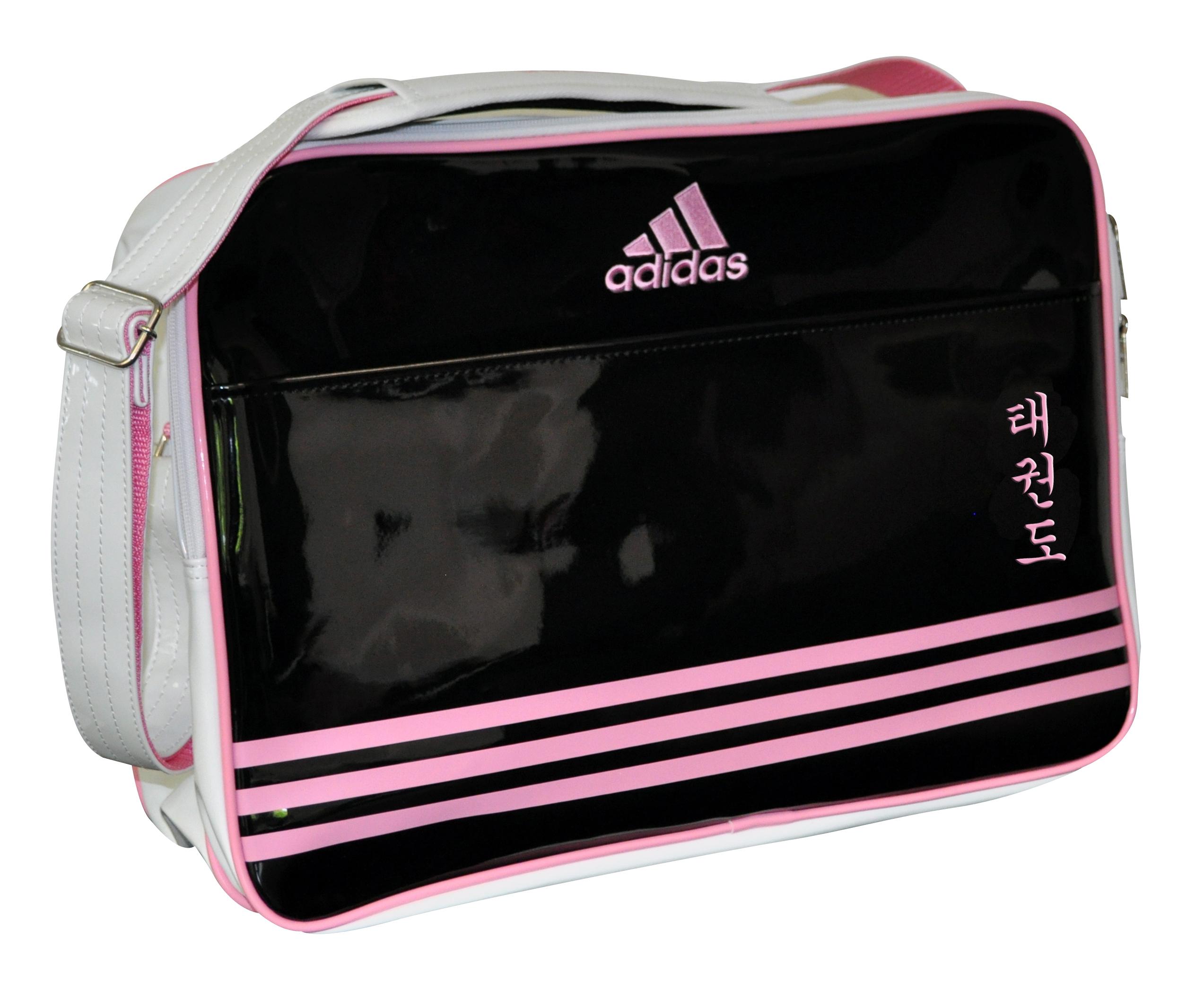 Image of   Adidas Retro Taekwondo Sports taske - 46 x 32 x 19 cm - Sort / Pink