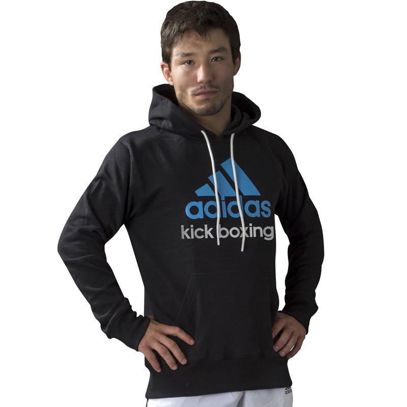 Image of   Adidas Community Hoodie - Mænd - Blå / Sort / Kickboxing_L