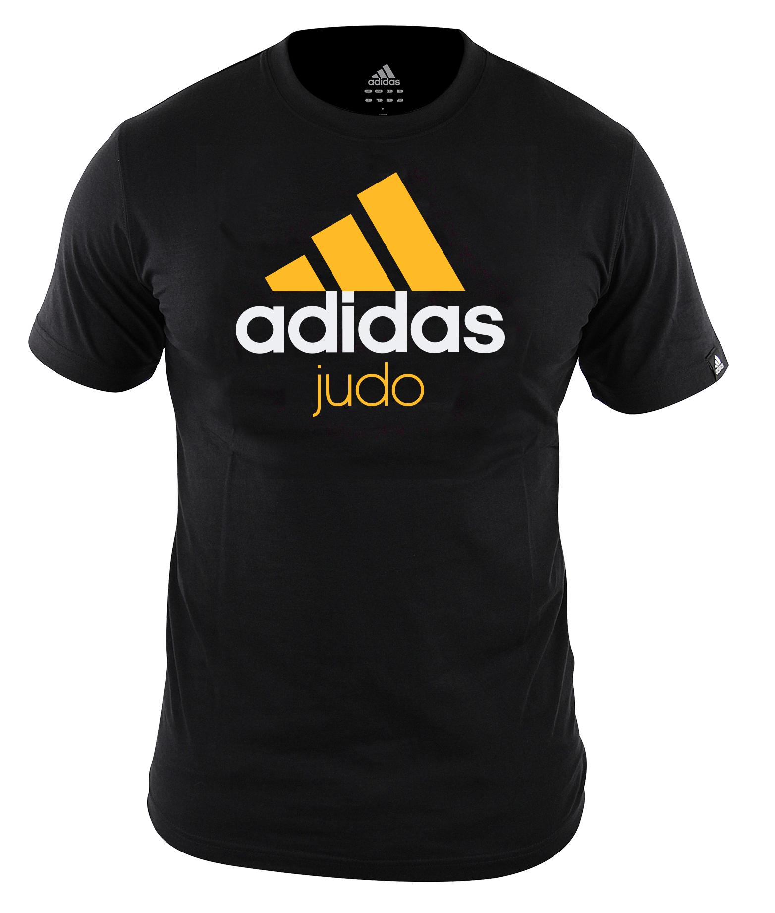 Adidas T-Shirt Judo - Unisex - Junior - Schwarz / Orange - 152