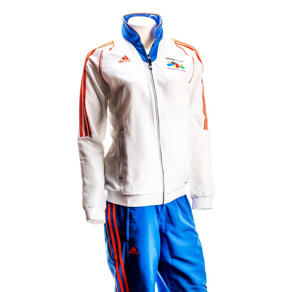 Billede af Adidas Team Netherlands Jacket - Mænd - Orange / Blå