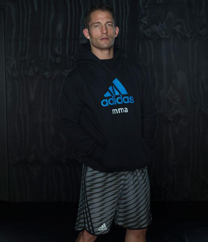 Adidas Training MMA Short Grijs Beluga S