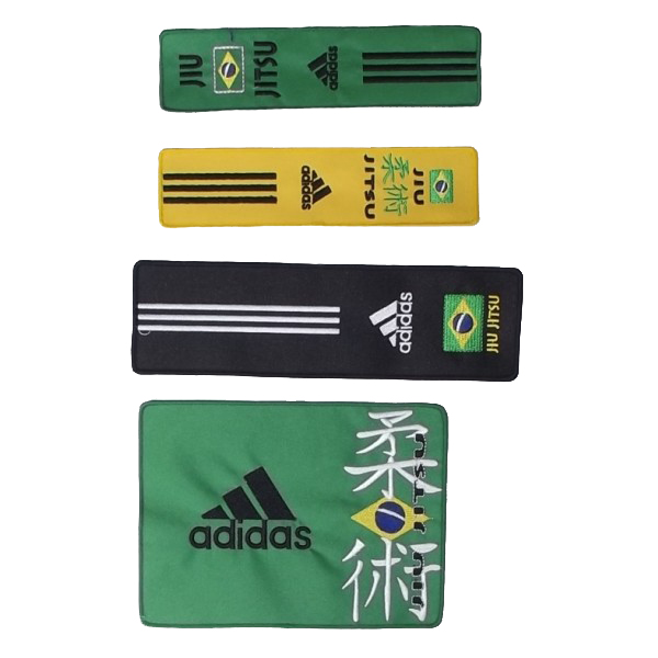 Adidas BJJ Badges - Green / Yellow