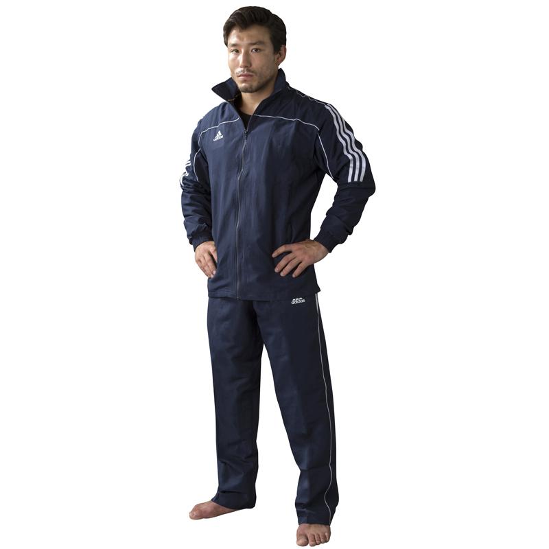 adidas trainingsbroek Team Track blauw maat 152