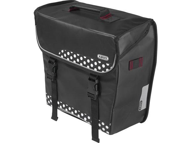 Image of   Abus Basica ST 5500 Single Pannier taske med Metal Kroge og Velcro Straps - Polka Dots