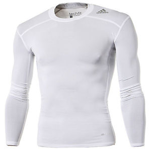 Adidas Techfit Base T-shirt - Manches Long - Unisexe - Blanc - M