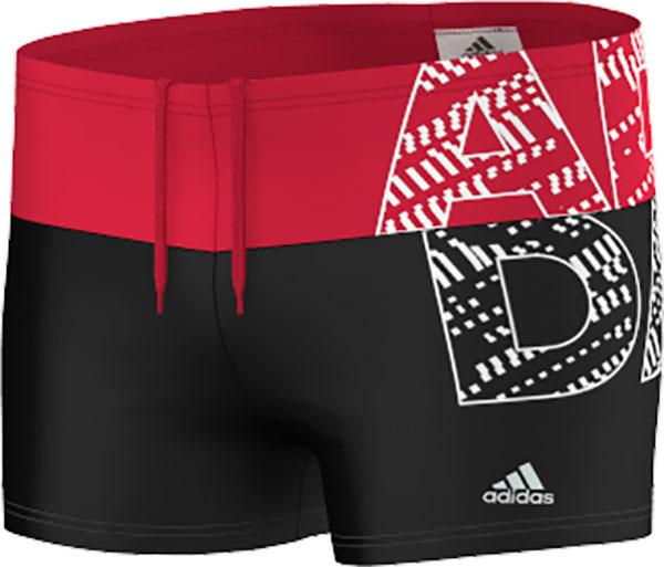Adidas Back to School Performance Zwembroek Jongens Zwart-Ray Rood