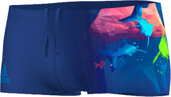 adidas Infinitex+ Graphic Zwembroek, Blauw, 26, Male, Zwemmen