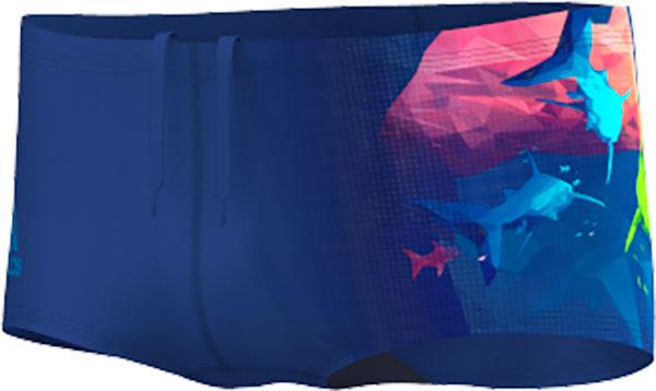 Adidas Adiclub Graphic Swim Trunks - Boys - Collegiate Navy / Shock Pink - 176