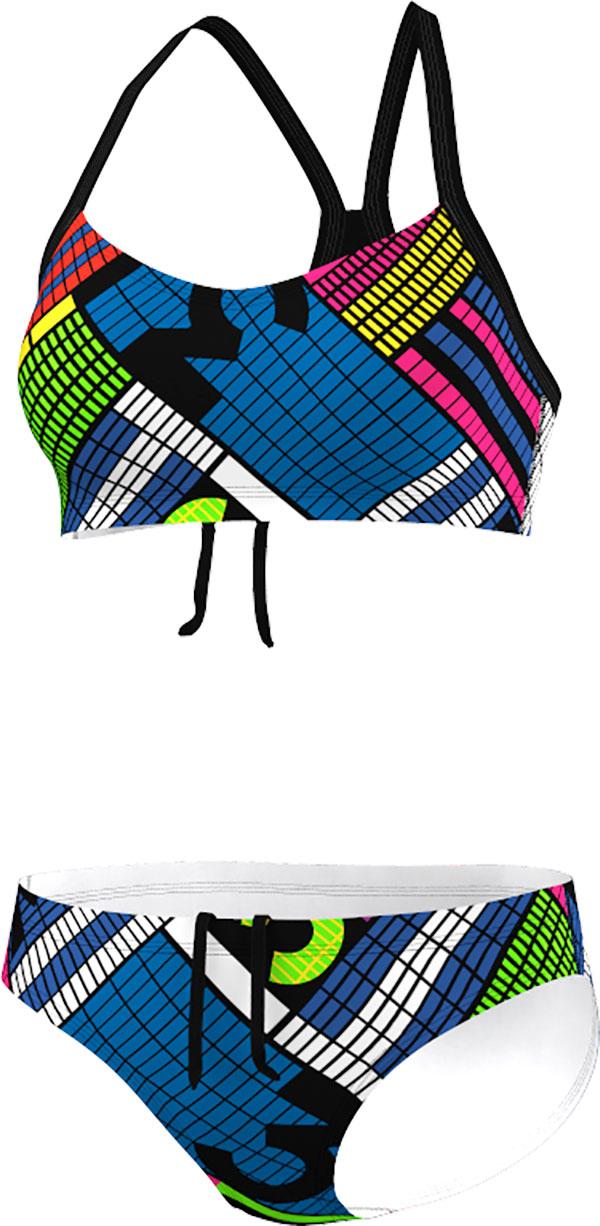 adidas Infinitex+ Pulse Graphic Bikini, Zwart, 38, Female, Zwemmen