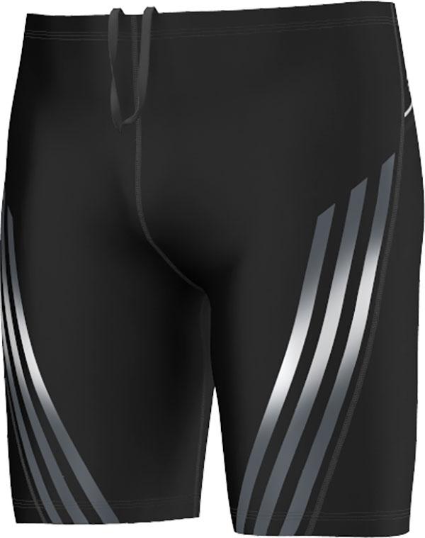 adidas Infinitex Gestroomlijnde Lange Zwembroek, Zwart, 26, Male, Zwemmen