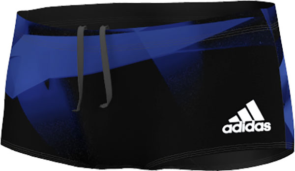 Adidas Streamline Swim Boxers - Hommes - Noir / Bold Blue / Matte Silver - 7