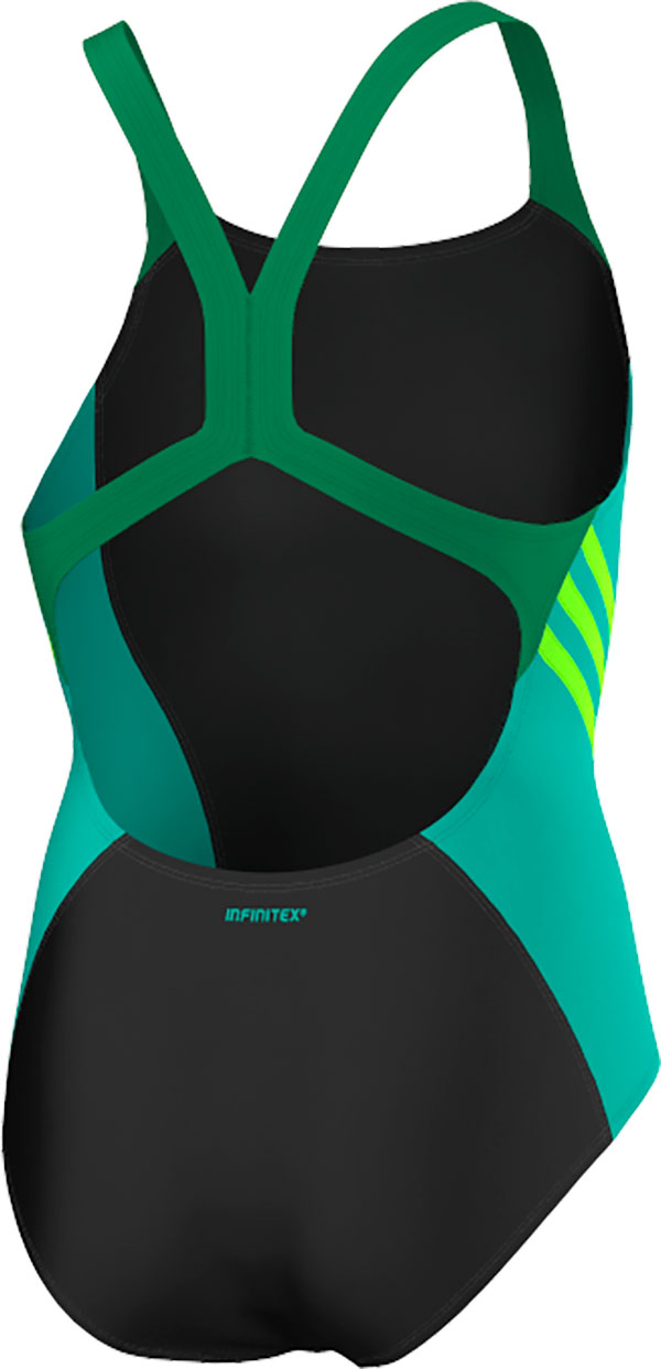 Adidas Color Block Swimsuit - Girls - Black / Shock Mint / Solar Green - 128