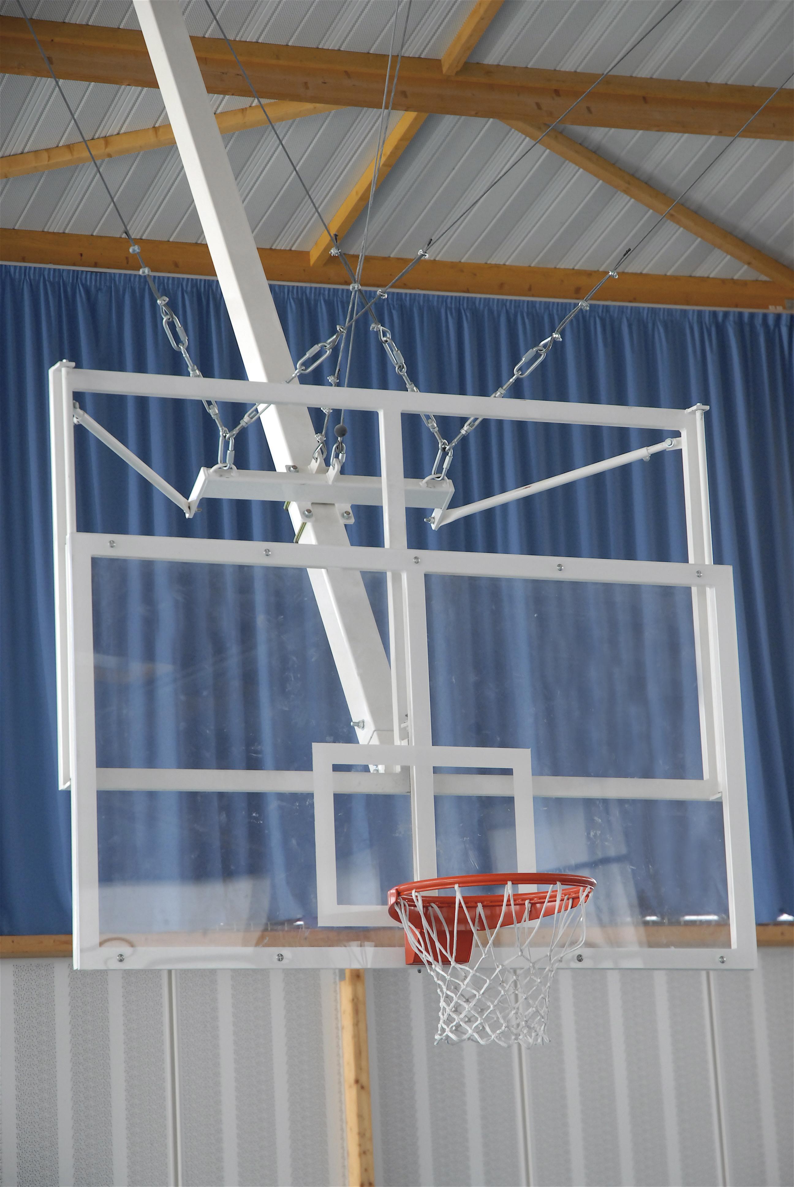 Image of   Basketball Goal tagmonteret - Justerbar højde - Overhæng 1,0 m