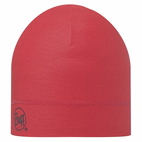 Image of   Buff Merino Wool 1 Layer Hat - Solid Pink Hibiscus