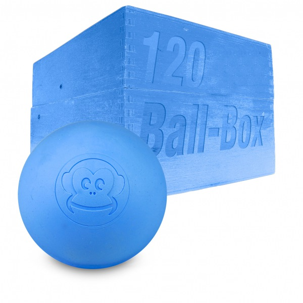 Image of   Captain LAX Lacrosse Ball Box 120 stk. - Blå
