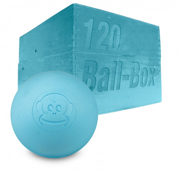 Image of   Captain LAX Lacrosse Ball Box 120 stk. - Light