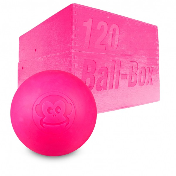 Image of   Captain LAX Lacrosse Ball Box 120 stk. - Neon Pink