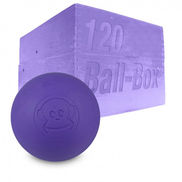Image of   Captain LAX Lacrosse Ball Box 120 stk. - Lilla