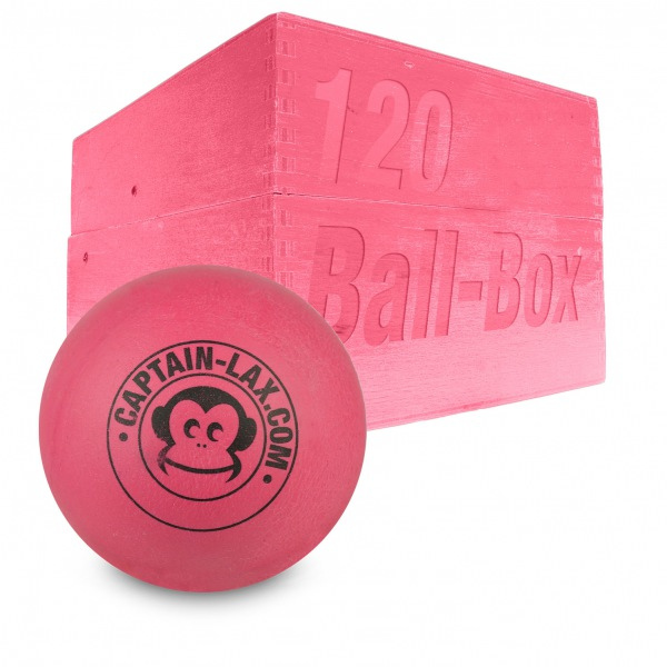 Image of   Captain LAX Lacrosse Ball Box 120 stk. Soft Practice Ball - Pink