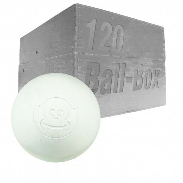 Image of   Captain LAX Lacrosse Ball Box 120 stk. - Hvid