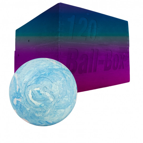 Image of   Captain LAX Lacrosse Ball Box 120 stk. - Hvid / Pink / Light