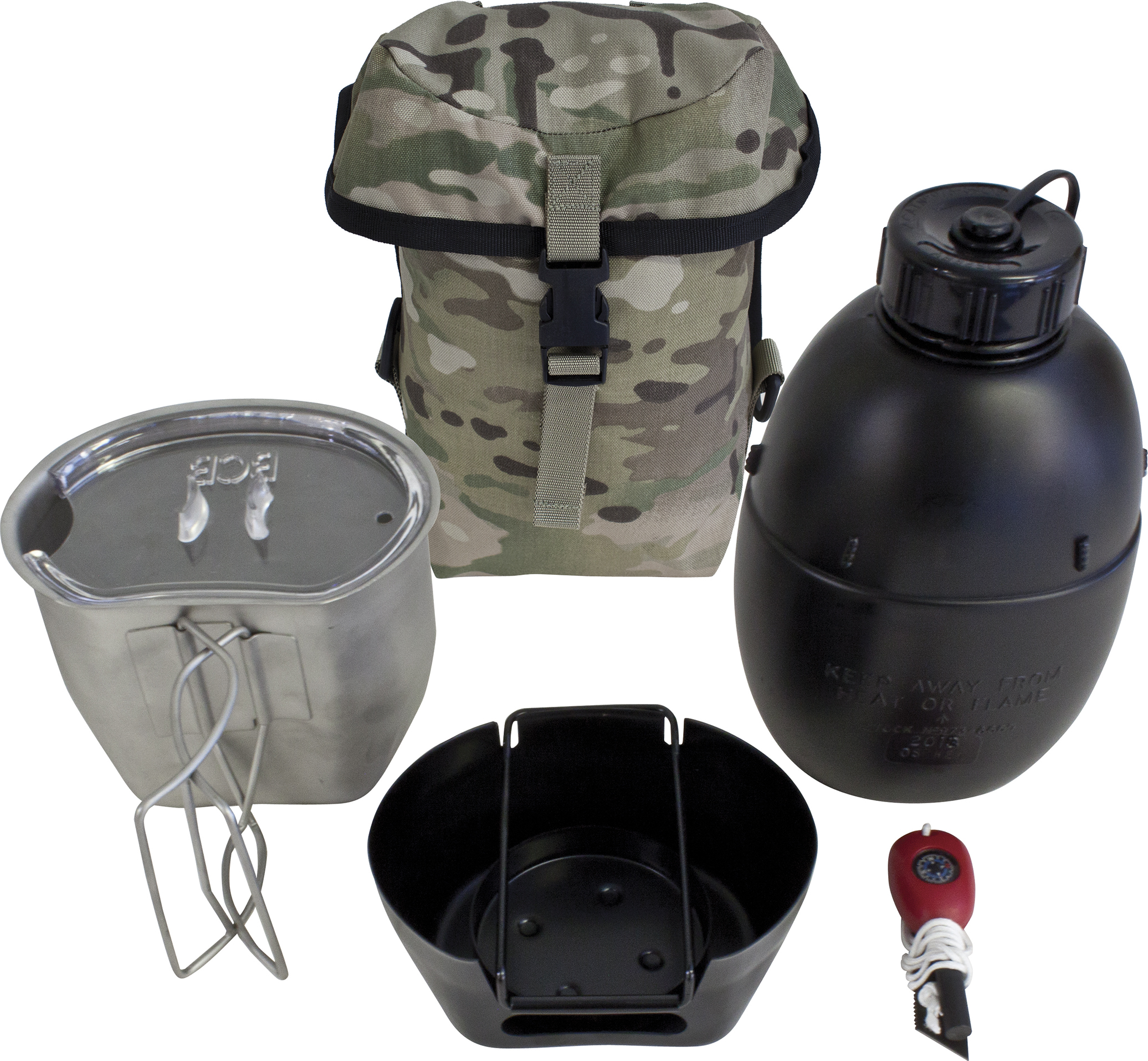 Image of   Bushcraft The Crusader Cooking System I - Silver