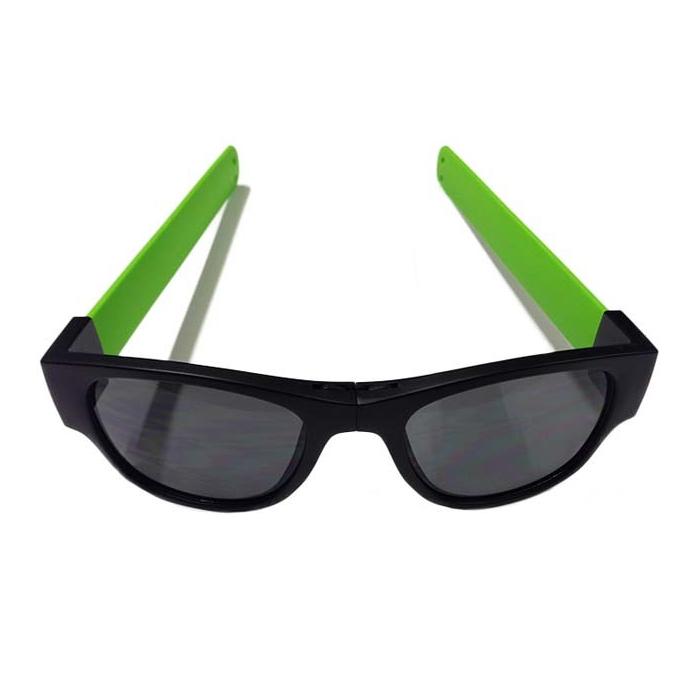 Image of   Clix Sunglasses - Black / Green - Black