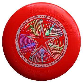 Image of   Discraft Ultra Star Frisbee - Rød