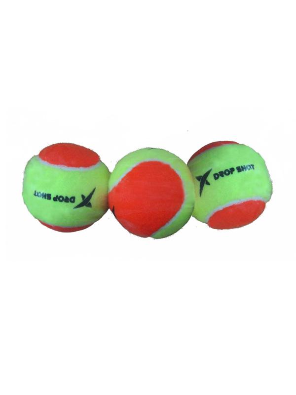 Drop Shot beach tennisballen geel-oranje 3 stuks