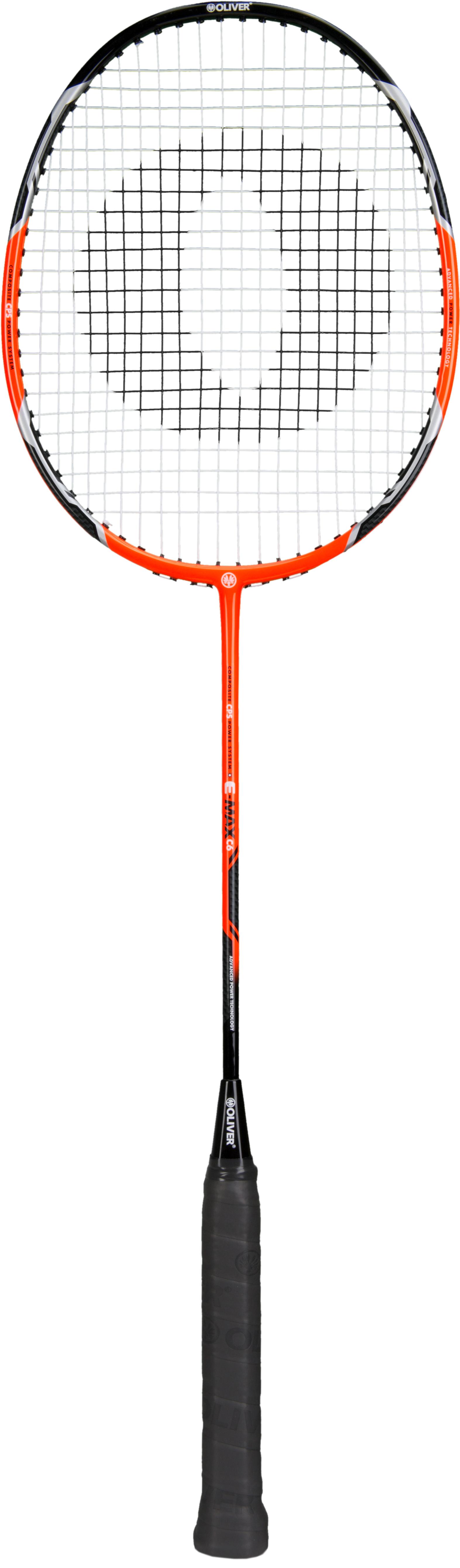 Image of   Oliver E-MAX C6 Badminton Racket - Orange / Black