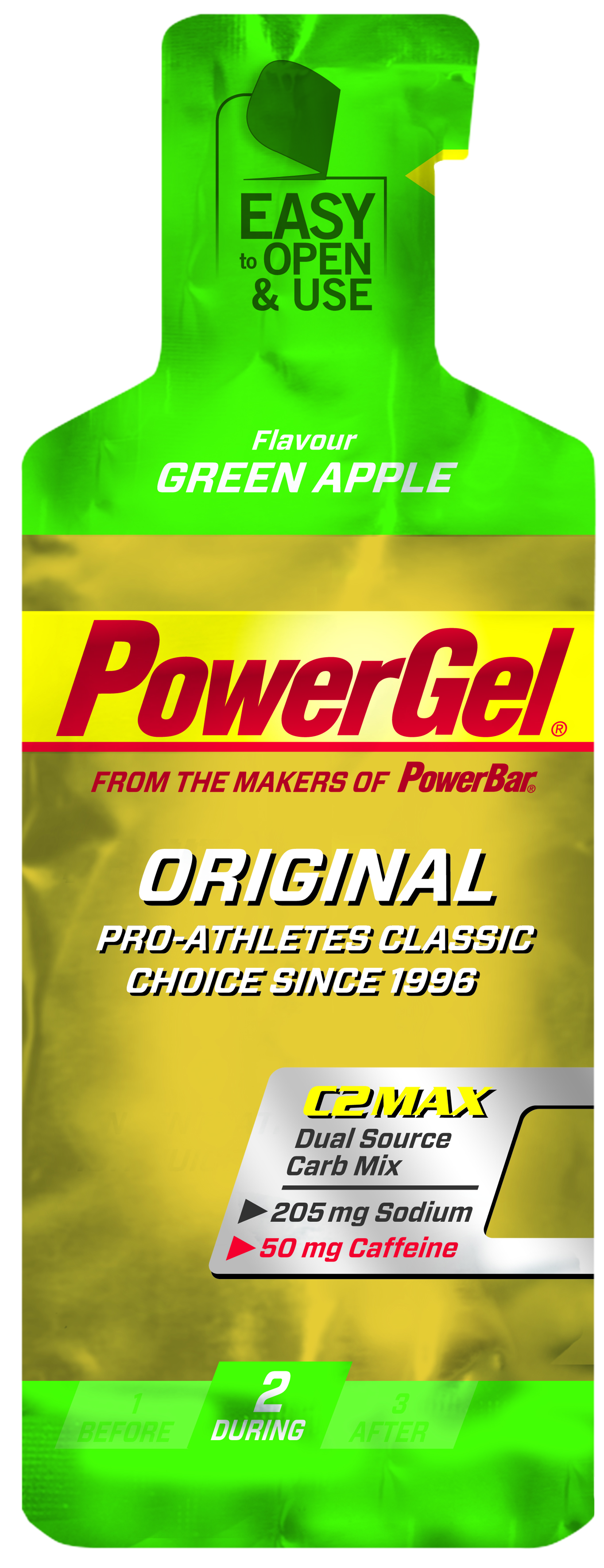 Powerbar Sportvoeding Powergel Caffeine Green Apple 41gram