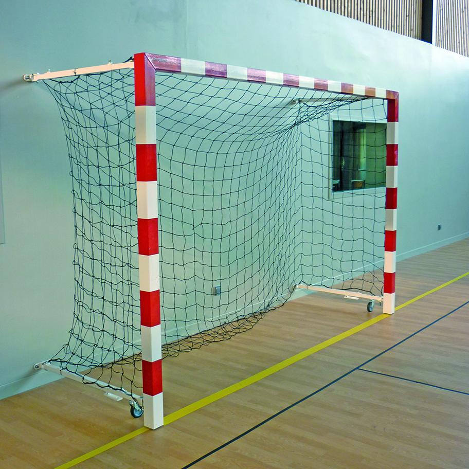 Image of   Aluminium Wall Folding Handball Goal Sectional 0,90-1,40 m - 2 stk.