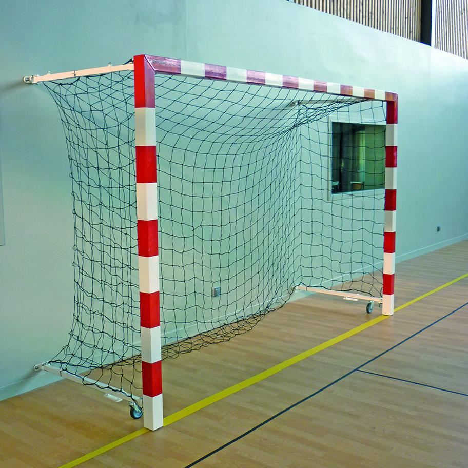 Image of   Aluminium Wall Folding Handball Goal Sectional 1,40-2,10 m - 2 stk.