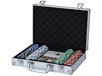 Image of   XQ Max Pokerset - 200 chips i Aluminum Case