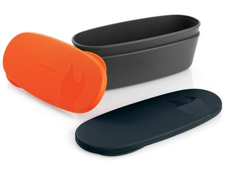 Image of   LMF SnapBox Oval - Orange / Black