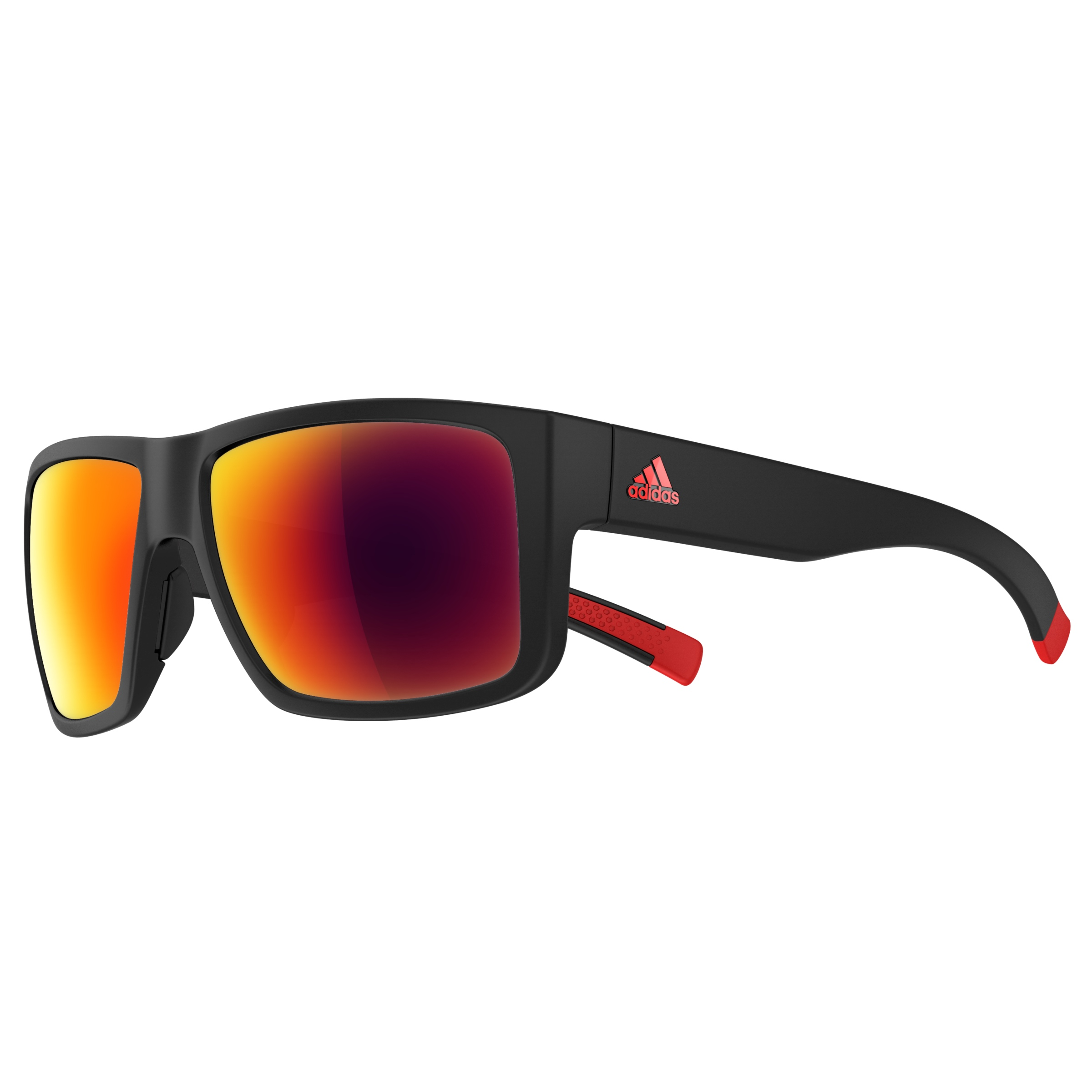 Image of   Adidas Matic Sports Briller - Sort Matt - Red Mirror
