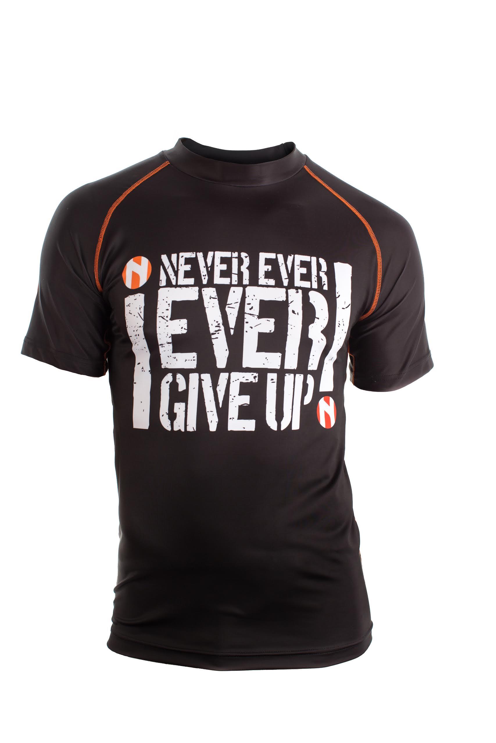 Nihon Sport Shirt Never Give Up - Heren - Zwart / Wit thumbnail