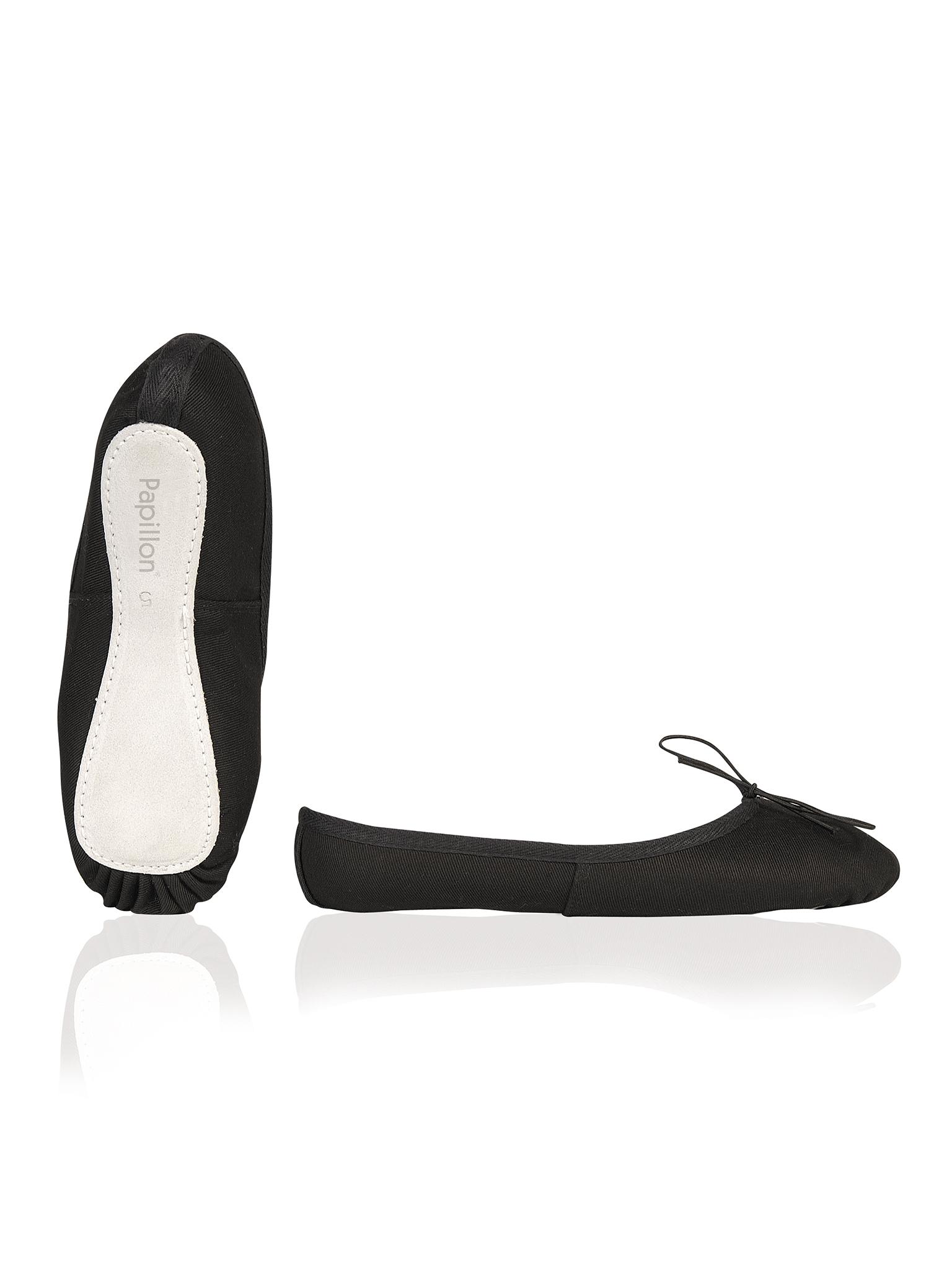 Image of   Papillon Ballet sko Black lærred fuld sål Kvinder - Black - 65
