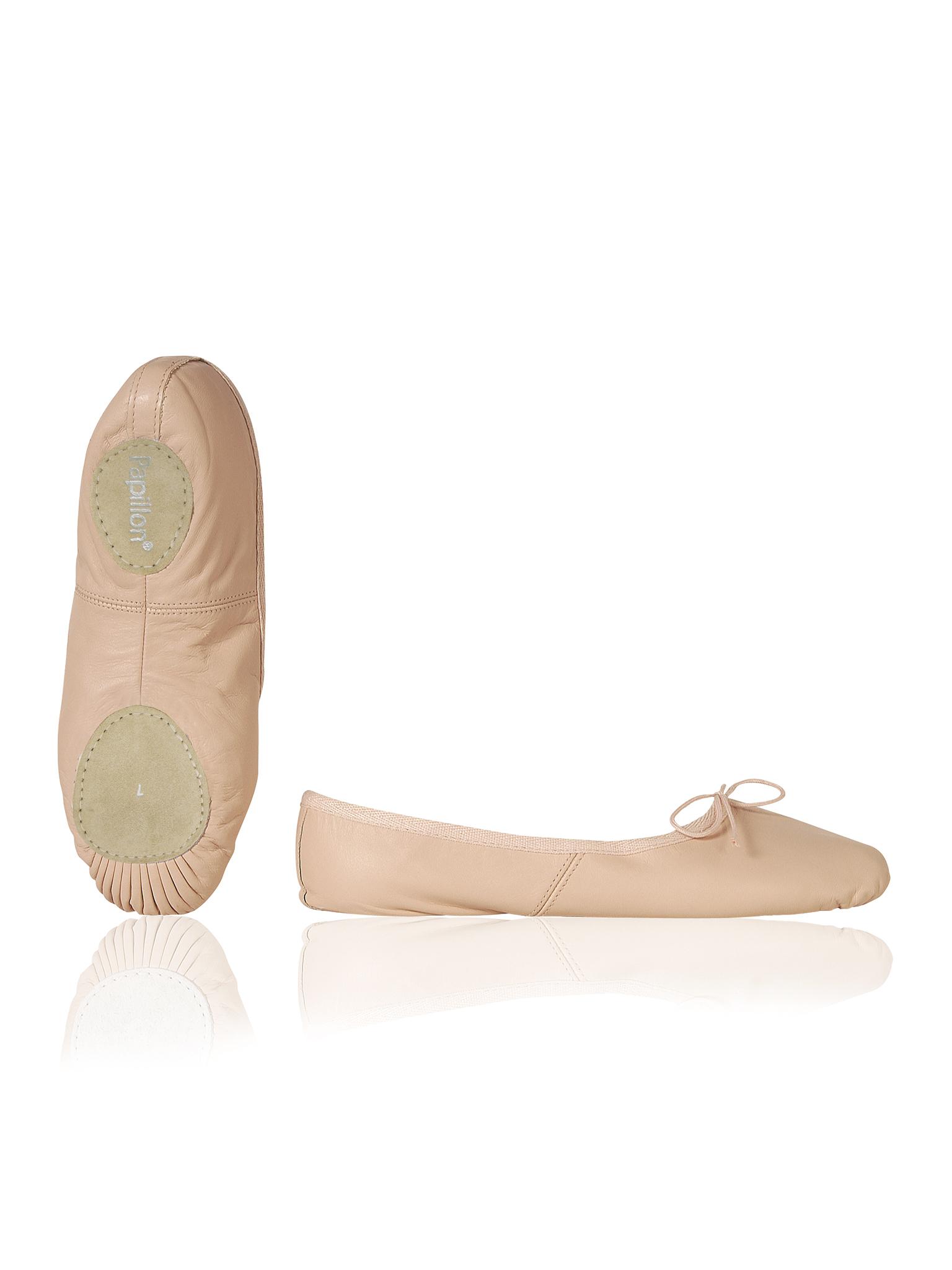 Image of   Papillon Ballet sko Mørk lærred split sål Kvinder - Pink - 45