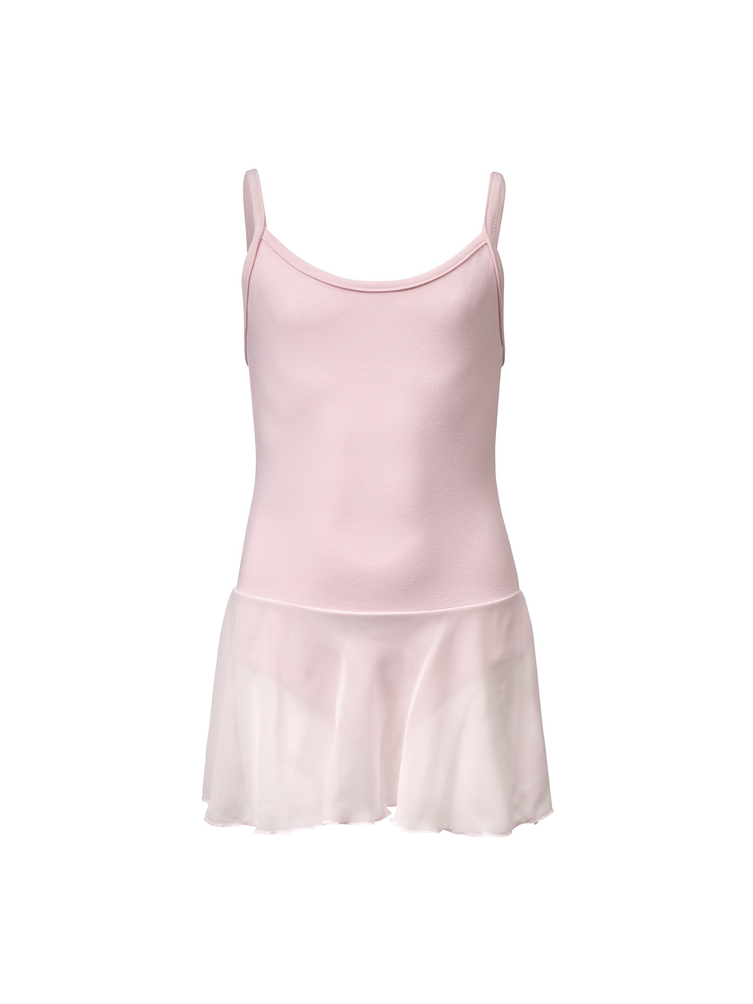 Image of   Papillon Leotard Spaghetti Strap skirt voile cotton Girls - Pink - 10